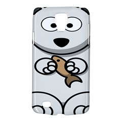 Bear Polar Bear Arctic Fish Mammal Galaxy S4 Active by Nexatart