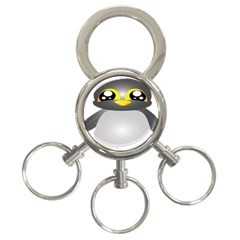 Cute Penguin Animal 3 Ring Key Chains
