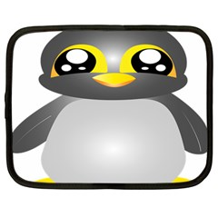 Cute Penguin Animal Netbook Case (large) by Nexatart