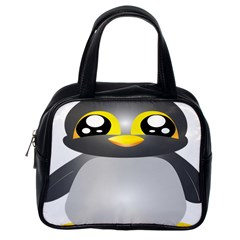 Cute Penguin Animal Classic Handbags (one Side)