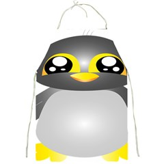Cute Penguin Animal Full Print Aprons