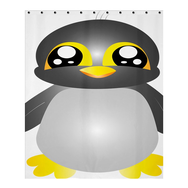 Cute Penguin Animal Shower Curtain 60  x 72  (Medium)