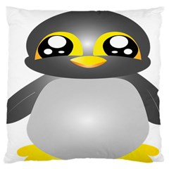 Cute Penguin Animal Large Cushion Case (two Sides)