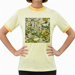 Simple Map Of The City Women s Fitted Ringer T Shirts