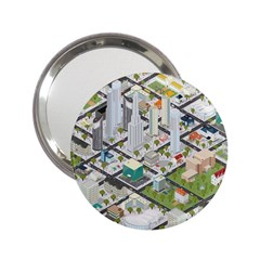 Simple Map Of The City 2 25  Handbag Mirrors