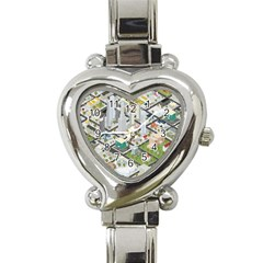 Simple Map Of The City Heart Italian Charm Watch