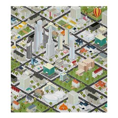 Simple Map Of The City Shower Curtain 66  X 72  (large)