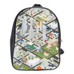 Simple Map Of The City School Bag (large)