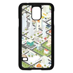 Simple Map Of The City Samsung Galaxy S5 Case (black) by Nexatart