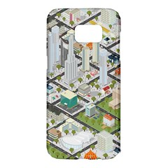 Simple Map Of The City Samsung Galaxy S7 Edge Hardshell Case