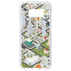 Simple Map Of The City Samsung Galaxy S8 White Seamless Case by Nexatart