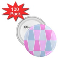 Geometric Pattern Design Pastels 1 75  Buttons (100 Pack)  by Nexatart