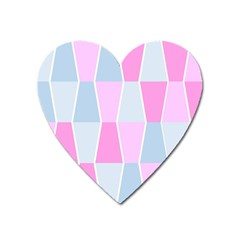 Geometric Pattern Design Pastels Heart Magnet by Nexatart