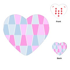 Geometric Pattern Design Pastels Playing Cards (heart)