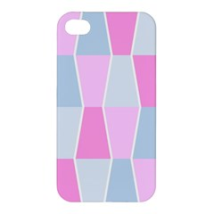 Geometric Pattern Design Pastels Apple Iphone 4/4s Premium Hardshell Case