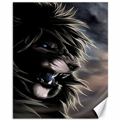 Angry Lion Digital Art Hd Canvas 16  X 20