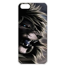 Angry Lion Digital Art Hd Apple Iphone 5 Seamless Case (white)