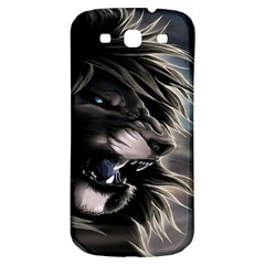 Angry Lion Digital Art Hd Samsung Galaxy S3 S Iii Classic Hardshell Back Case