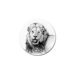 Lion Wildlife Art And Illustration Pencil Golf Ball Marker (10 Pack) by Nexatart