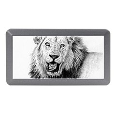 Lion Wildlife Art And Illustration Pencil Memory Card Reader (mini)