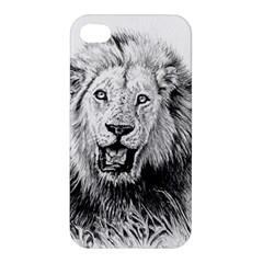 Lion Wildlife Art And Illustration Pencil Apple Iphone 4/4s Premium Hardshell Case