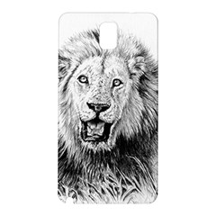 Lion Wildlife Art And Illustration Pencil Samsung Galaxy Note 3 N9005 Hardshell Back Case