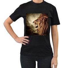 Roaring Lion Women s T Shirt (black) (two Sided)