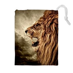 Roaring Lion Drawstring Pouches (extra Large) by Nexatart