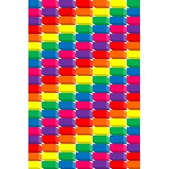 Rainbow 3d Cubes Red Orange 5 5  X 8 5  Notebooks by Nexatart