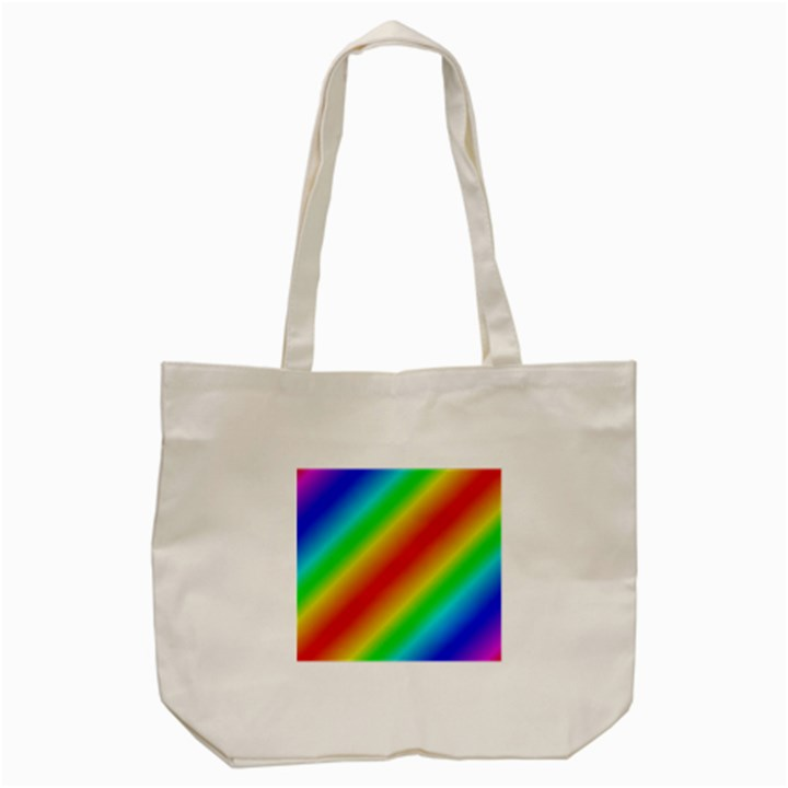 Background Diagonal Refraction Tote Bag (Cream)
