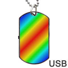 Background Diagonal Refraction Dog Tag Usb Flash (one Side) by Nexatart