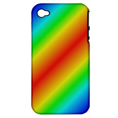Background Diagonal Refraction Apple Iphone 4/4s Hardshell Case (pc+silicone)
