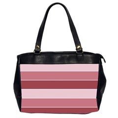 Striped Shapes Wide Stripes Horizontal Geometric Office Handbags (2 Sides)