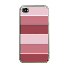 Striped Shapes Wide Stripes Horizontal Geometric Apple Iphone 4 Case (clear)