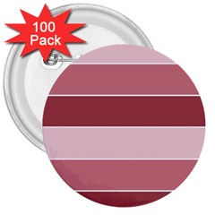 Striped Shapes Wide Stripes Horizontal Geometric 3  Buttons (100 Pack)