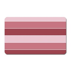 Striped Shapes Wide Stripes Horizontal Geometric Magnet (rectangular)