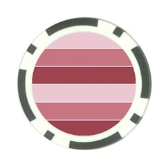 Striped Shapes Wide Stripes Horizontal Geometric Poker Chip Card Guard