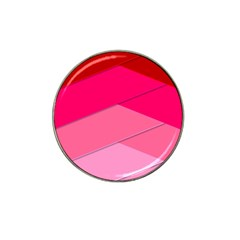 Geometric Shapes Magenta Pink Rose Hat Clip Ball Marker (4 Pack)