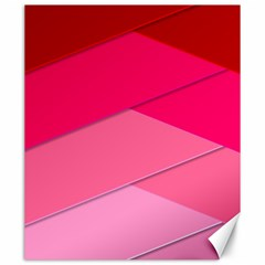 Geometric Shapes Magenta Pink Rose Canvas 20  X 24   by Nexatart