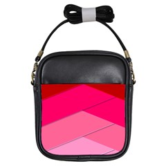 Geometric Shapes Magenta Pink Rose Girls Sling Bags