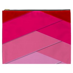 Geometric Shapes Magenta Pink Rose Cosmetic Bag (xxxl)