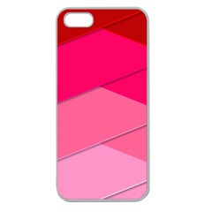 Geometric Shapes Magenta Pink Rose Apple Seamless Iphone 5 Case (clear)