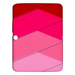 Geometric Shapes Magenta Pink Rose Samsung Galaxy Tab 3 (10 1 ) P5200 Hardshell Case