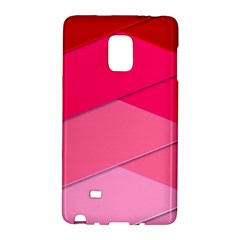 Geometric Shapes Magenta Pink Rose Galaxy Note Edge