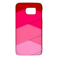 Geometric Shapes Magenta Pink Rose Galaxy S6