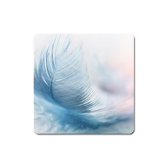 Feather Ease Slightly Blue Airy Square Magnet