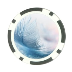 Feather Ease Slightly Blue Airy Poker Chip Card Guard by Nexatart