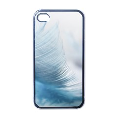 Feather Ease Slightly Blue Airy Apple Iphone 4 Case (black)