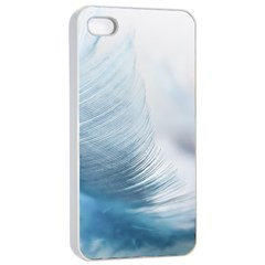 Feather Ease Slightly Blue Airy Apple Iphone 4/4s Seamless Case (white)