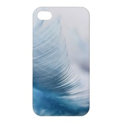 Feather Ease Slightly Blue Airy Apple Iphone 4/4s Premium Hardshell Case